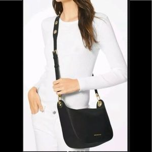 Coach black leather Barlow crossbody handbag
